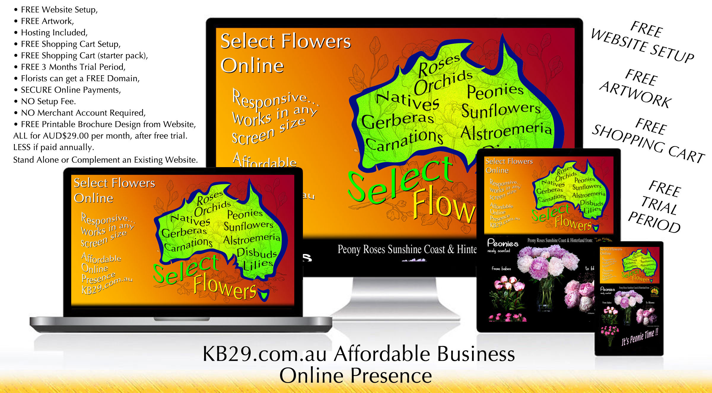 KB29 FREE WEBSITE & e-COMMERCE SETUP